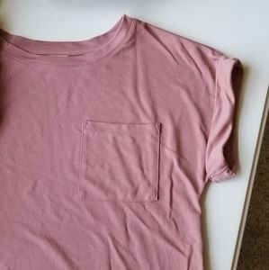 NWOT Pink shirt sleeve top Medium